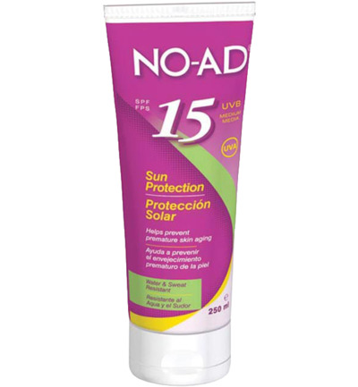 Sun tan lotion F15 tube