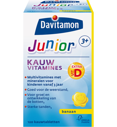 Junior 3+ KauwVitamines Banaan