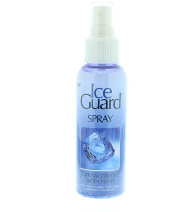 Deodorant ice guard spray