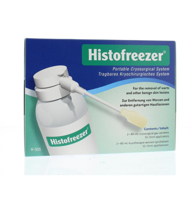 Histofreezer gasfles voor 52 x 5 mm applicators