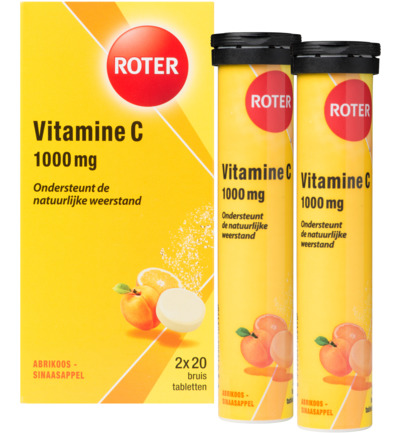 Vitamine C 1000mg sinaasappel & abrikoos duo