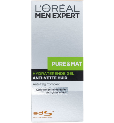Men expert pure & mat gel