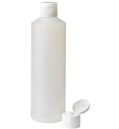 Fles HDPE naturel + spuitdop 28 mm 500 ml