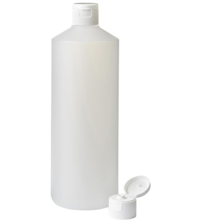 Fles HDPE naturel + spuitdop 28mm 1000ML