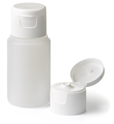 Fles HDPE naturel + spuitdop 28 mm 60 ml