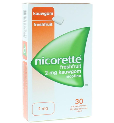 Nicorette Kauwgom 2mg Fresh Fruit (30st)