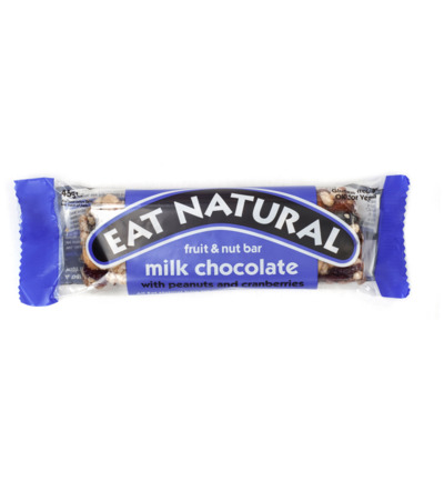Afbeelding van Eat Natural Peanut Cranberry Cashew Macadamia Chocolate (45g)