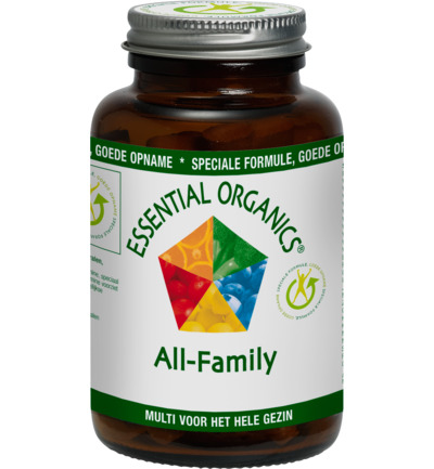 Afbeelding van Essential Organics All Family Multivitamine Tabletten 90st
