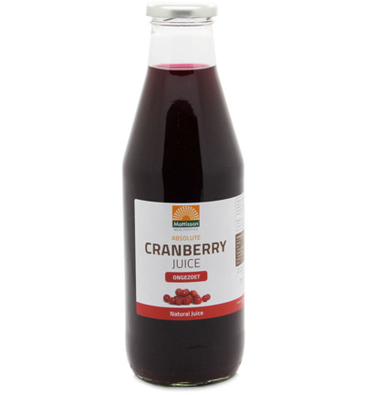 Absolute cranberry juice ongezoet