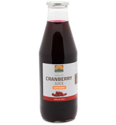 Absolute cranberry juice licht gezoet
