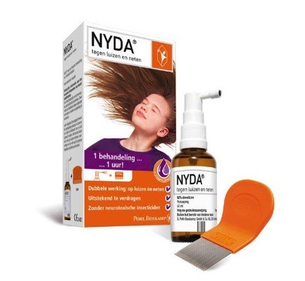 Spray 50 ml + NYDA metalen kam combipack