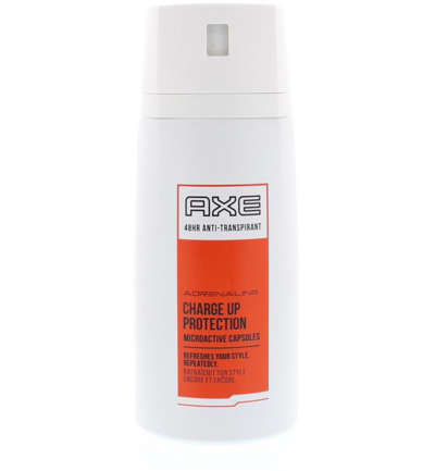 Deodorant spray adrenaline charge up protection