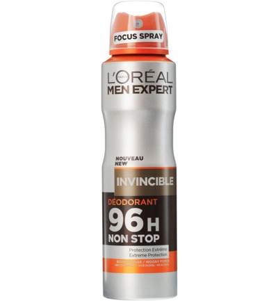 Deodorant spray invincible