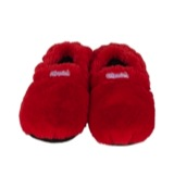 Slippies maat 4-7 (36-41) plush rood