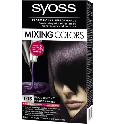 Mixing Colors 1-13 Black Berry Mix Haarverf