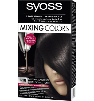 Mixing Colors 1-18 Dark Chocolate Fusion Haarverf