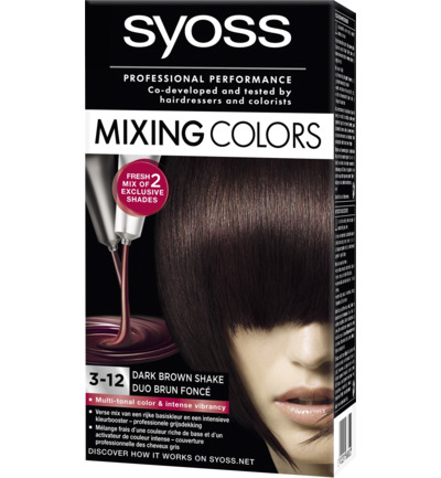 Mixing Color 3-12 dark brown shake