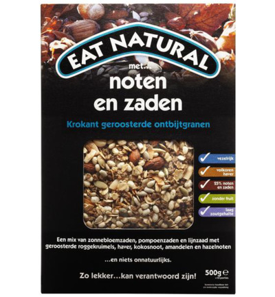 Afbeelding van Eat Natural Cereal Noten & Zaden 500g
