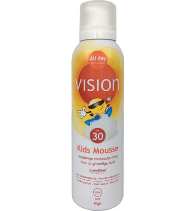 Vision All Day Zonnebrand Kids Mousse Sun Protection Factor(spf)30 150ml