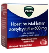 Hoest acetylcysteine 600 mg