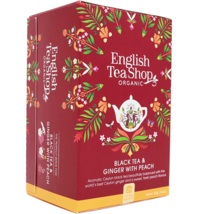 English Tea Shop Ginger Peach Tea (20bt)
