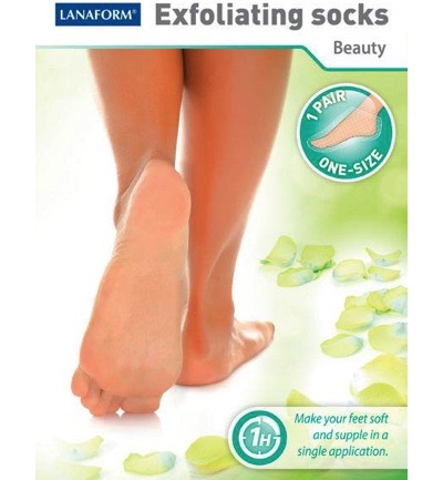 Exfoliating socks one size