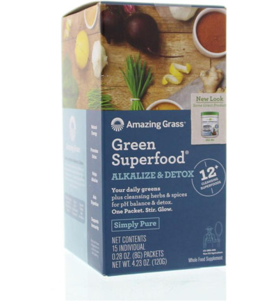 Afbeelding van Amazing Grass Green Superfood 120 g (15x8g) Alkalize & Detox