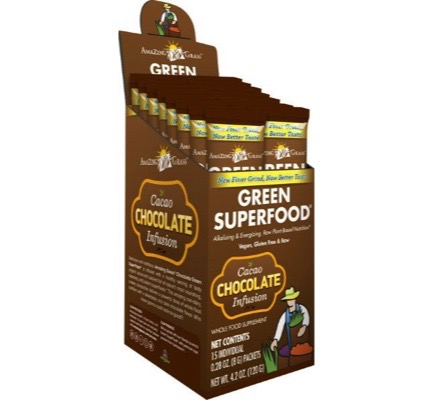 Afbeelding van Amazing Grass Chocolate Green Superfood 15sach