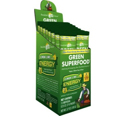 Energy lemon lime green superfood