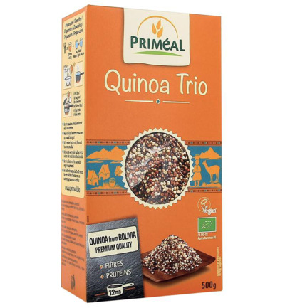 Quinoa trio white red black