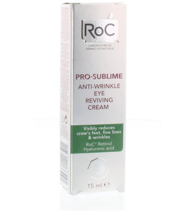 Pro sublime anti wrinkle eye reviving cream
