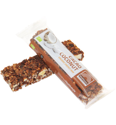 Organic energy bar cacao coconut