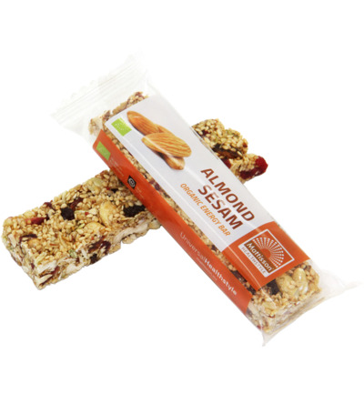 Organic energy bar almond sesam
