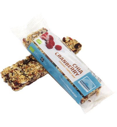 Organic energy bar chia cranberry