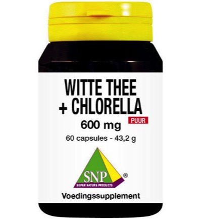 Snp Witte Thee Chlorel 600 Mg Puur (60cap)