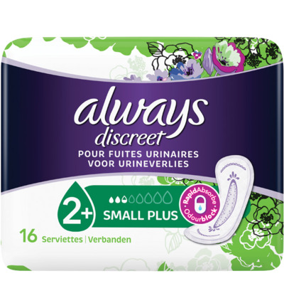 Discreet maandverband small plus