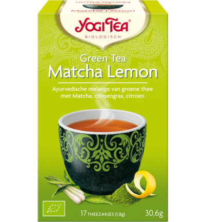 Green tea matcha lemon