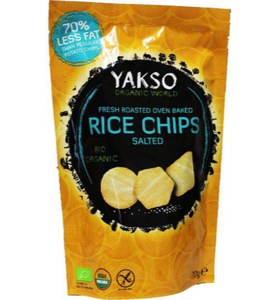 Rice chips salted
