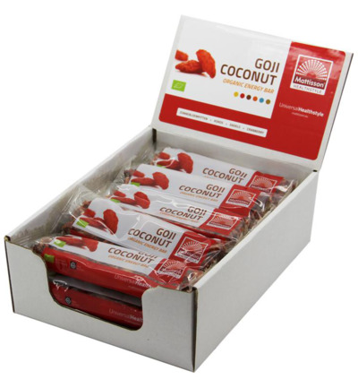 Organic energy bar goji coconut