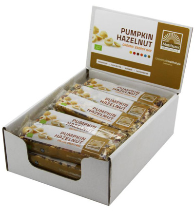 Organic energy bar pumpkin hazel