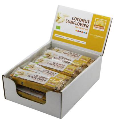 Organic energy bar coconut sunflower