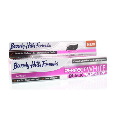 Afbeelding van Beverly Hills Perfect White Black Sensitive Tandpasta 125ml