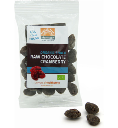 Cranberries snack raw choco