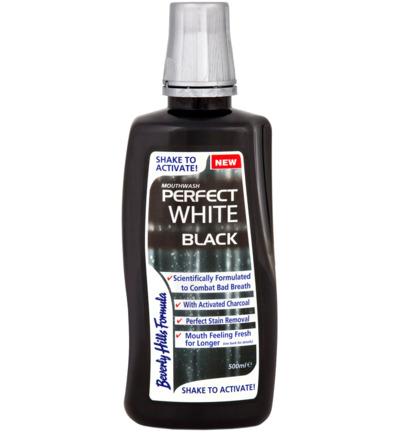 Afbeelding van Beverly Hills Perfect White Black Sensitive Mouthwash 500ml
