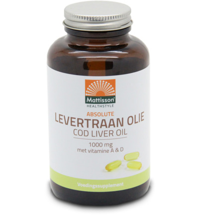 Levertraanolie 1000 mg met vitamine A/D