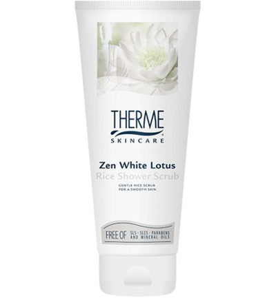 Scrub rice zen white lotus