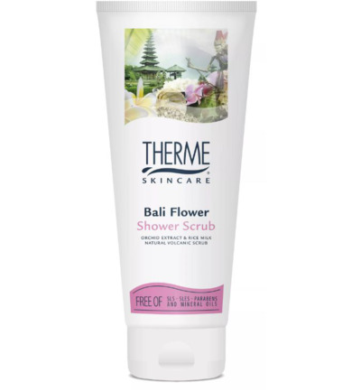 Shower scrub Bali flower