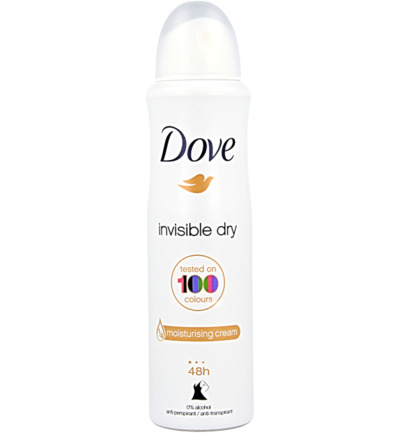 Deodorant spray invisible dry