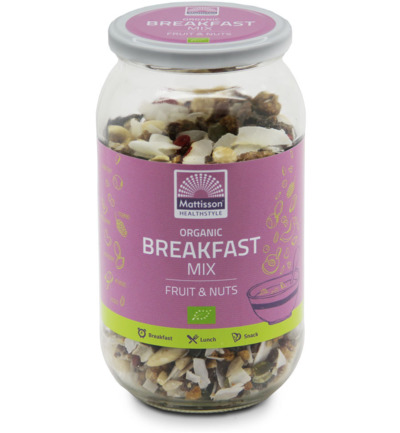 Organic breakfast mix fruit & nuts