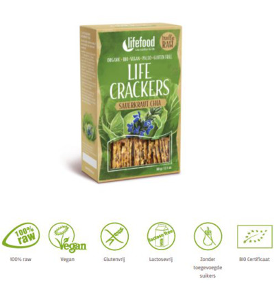 Life crackers zuurkool chia